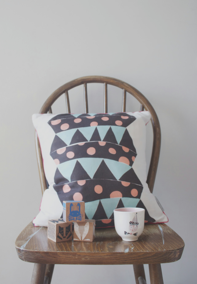 Jack in the box cushion cover in slate - free delivery in the UK