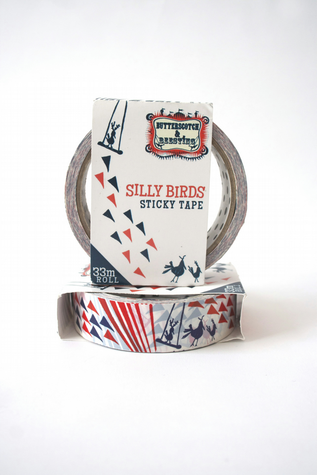 Silly Birds Sticky Tape - Washi Tape