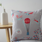 Bumble Bee Balloon cushion cover - in light pebble grey - free UK postage