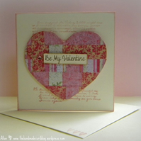 Tiny Woven Heart Be My Valentine Card