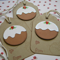 Trio of Luxury Christmas Pudding Tags