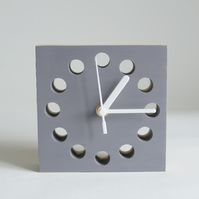 Warm Grey wooden minimalist clock great fathers day gift with free delivery