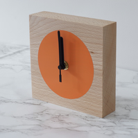 minimalist hand painted beech wood blockclock with free delivery