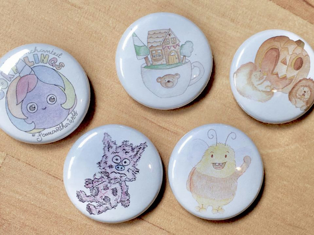 Button badges - Illustrations