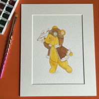 Watercolour Teddy Bear Illustration - When I Grow Up