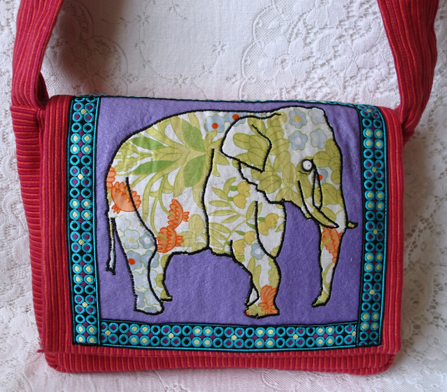 Diana bag with vintage fabric