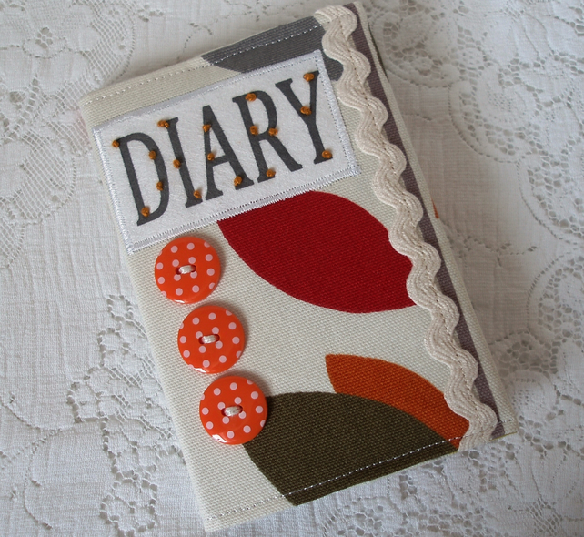 2013 Diary cover with autumn leaves