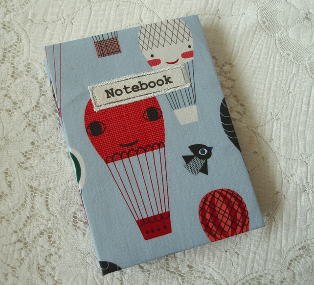 Notebook - Hot air balloons fabric
