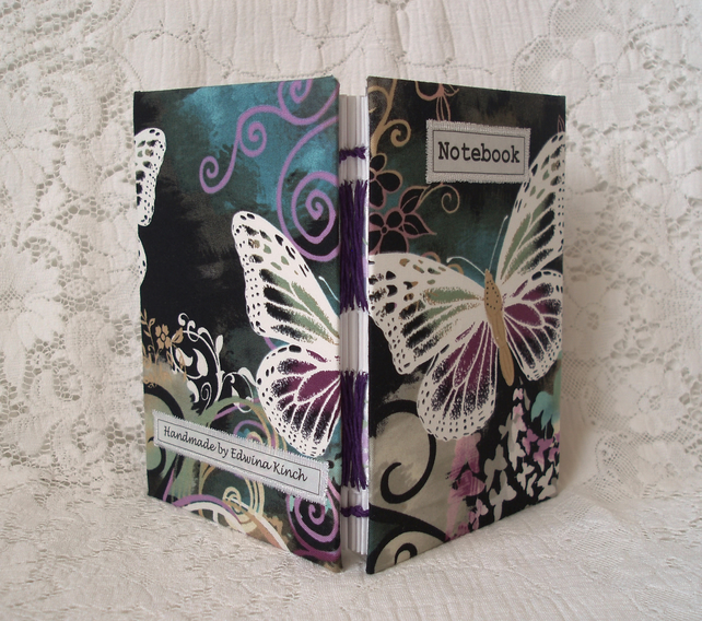 Notebook - butterfly fabric