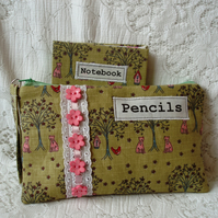 Notebook and Pencil case RESERVED FOR HJC