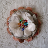 Shabby chic corsage