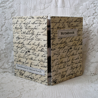 SALE! Notebook – Script  fabric