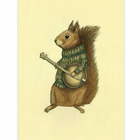 Squirrel with a Banjo