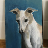 Whippet original painting
