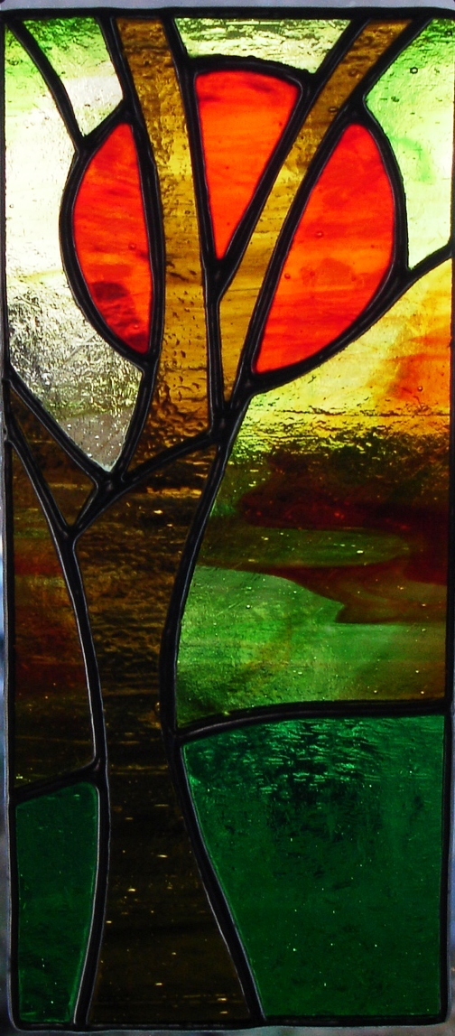 Trees Stained Glass Panel Folksy, Stained Glass Trees Images
