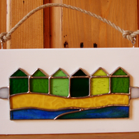 BEACH HUTS WALL PLAQUE