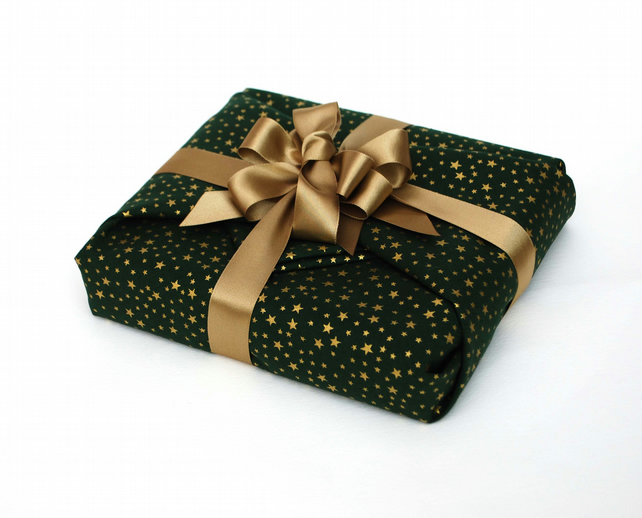 Luxury Christmas Gift Wrap, Reusable Fabric Gift Wrap