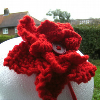 Red Flower Corsage headband