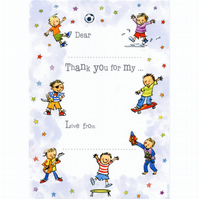 Noisy Boy Thank-you Postcards