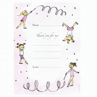 Gymnastic Thank-you Postcards