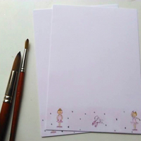 Ballet Girls Writing Paper Thank You Notelet