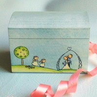 Bridesmaid gift mini keepsake box