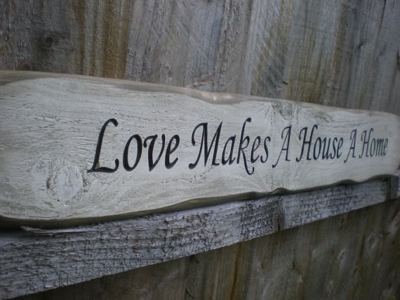 Rustic Wood Sign Love Makes A House A Home Folksy