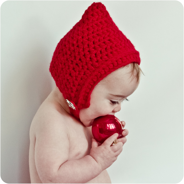 Gnome Pixie Elf Crochet Hat for Baby Child Toddler