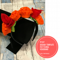Make a Felt Flower Headdress with this Pattern & Template Perfect for Festivals