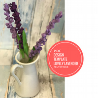 Make Your Own Felt Lavender With These Step by Step Instructions and Pattern