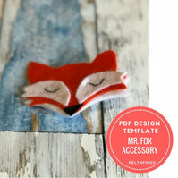 Make your own Felt Fox Accessory with this Felt Pattern and Template