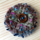 Recycled tweed fabric brooch