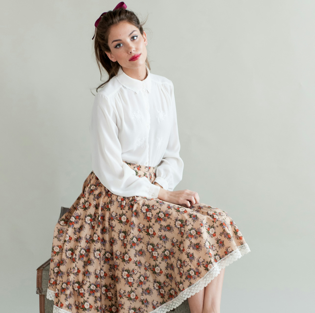 Floral 1950's inspired circle skirt - 25% off