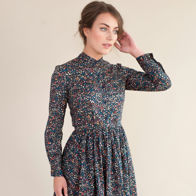 Long sleeved floral dress