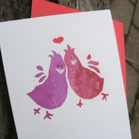 Anniversary or Wedding card Bird