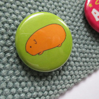 Badge Guinea Pig, cute pet gift, back to school, stocking filler