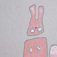 Easter Card Single Bunny