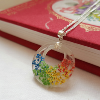Real Bright Flowers Necklace