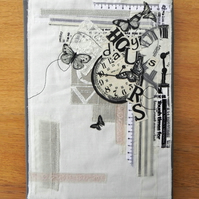 A4 Appliqued covered notebook
