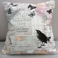 Map design cushion