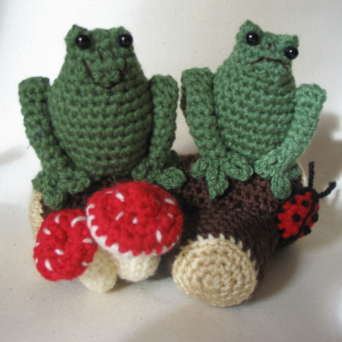 Two Frogs Sitting on a Log