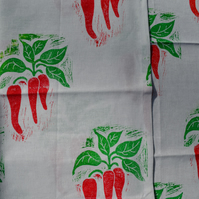 Chilli print tea towels