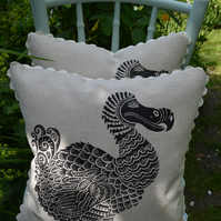 Screen printed 'Handsome Dodo' Cushion