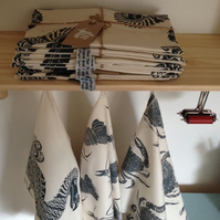 Screen printed Dodo tea towel