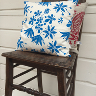 Wild Garlic & Cow Parsley Spring Cushion NEW PRICE