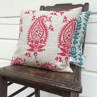 Red paisley cushion