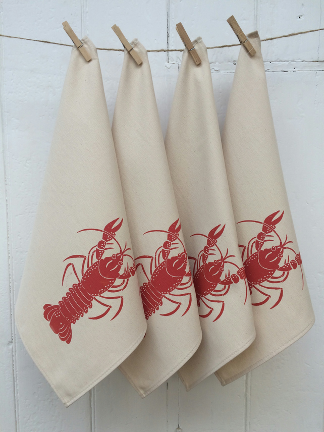 Lobster napkins