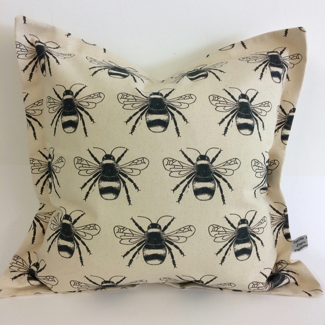 Bumble Bee pattern cushion