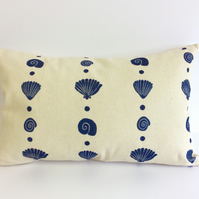 Shell stripe cushion