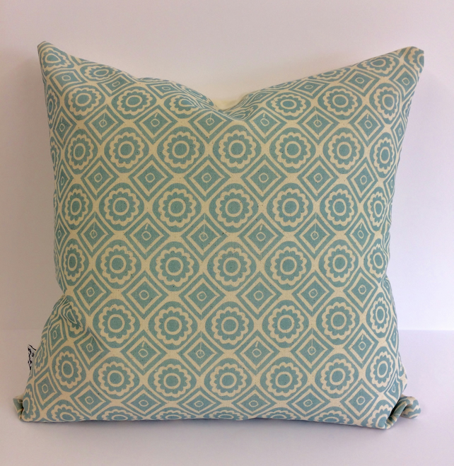Tile print cushion